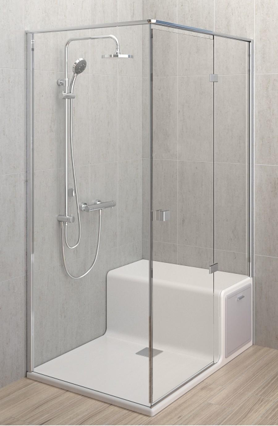 unit de douche roomy si ge droite de vitra 80 x 120 meuble de salle de bain. Black Bedroom Furniture Sets. Home Design Ideas