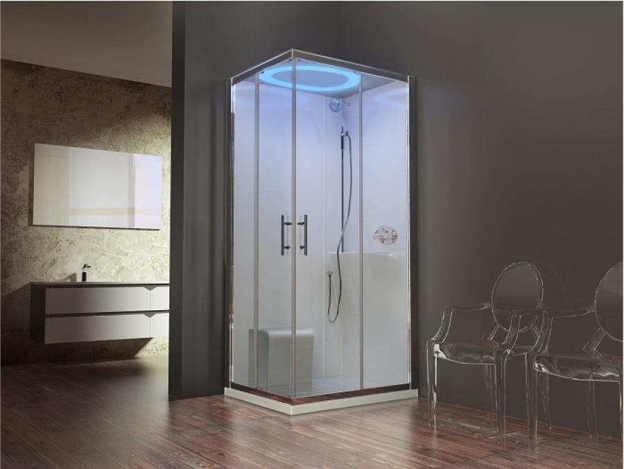 cabine eon a100x80 standard droite receveur extra plat meuble de salle de bain. Black Bedroom Furniture Sets. Home Design Ideas