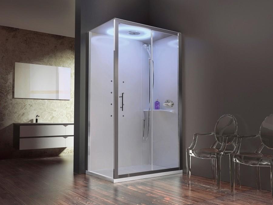 cabine eon 2p120x90 hydromassage droite receveur extra plat meuble de salle de. Black Bedroom Furniture Sets. Home Design Ideas