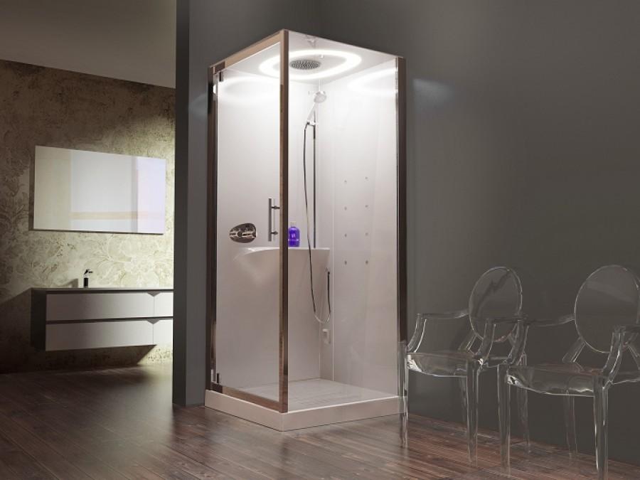 cabine eon gf90 hammam battante mitigeur thermostatique receveur 11 5 meuble de. Black Bedroom Furniture Sets. Home Design Ideas