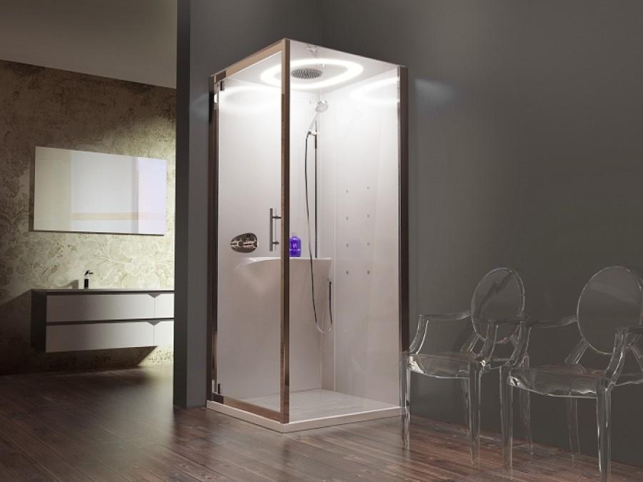 cabine eon gf90 hydromassage battante mitigeur thermostatique receveur extra plat. Black Bedroom Furniture Sets. Home Design Ideas