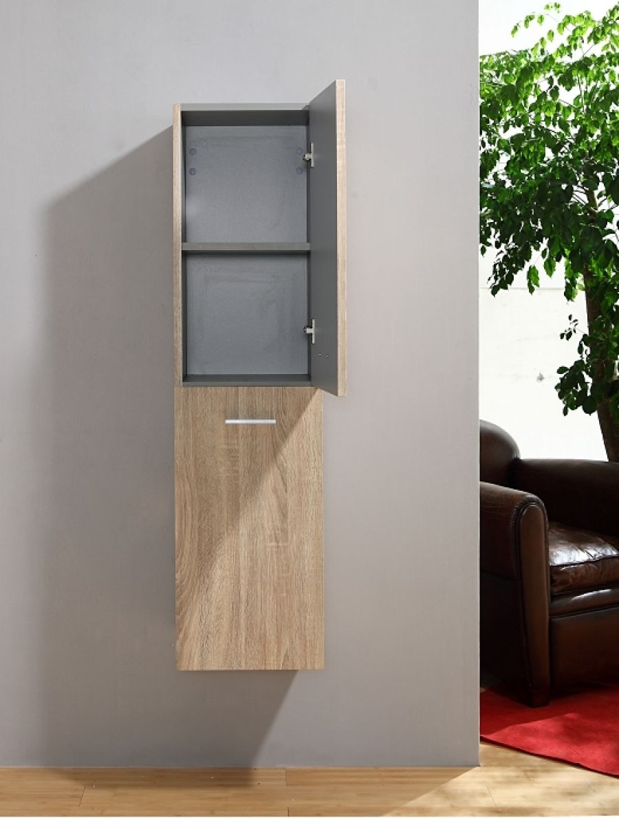 colonne de salle de bain jupiter 2 0 135cm bois clair. Black Bedroom Furniture Sets. Home Design Ideas