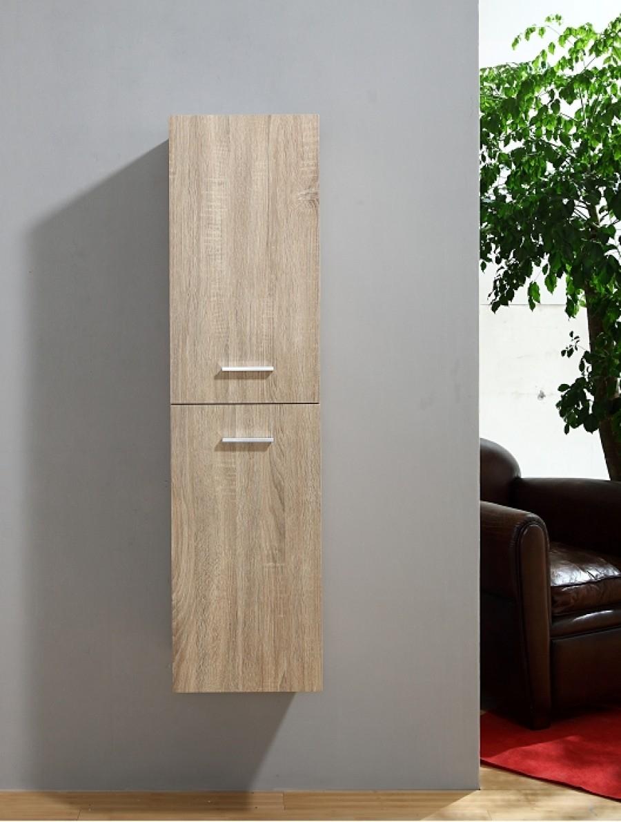 Meuble simple vasque 80cm jupiter 2 0 bois clair sans for Salle de bain bois clair