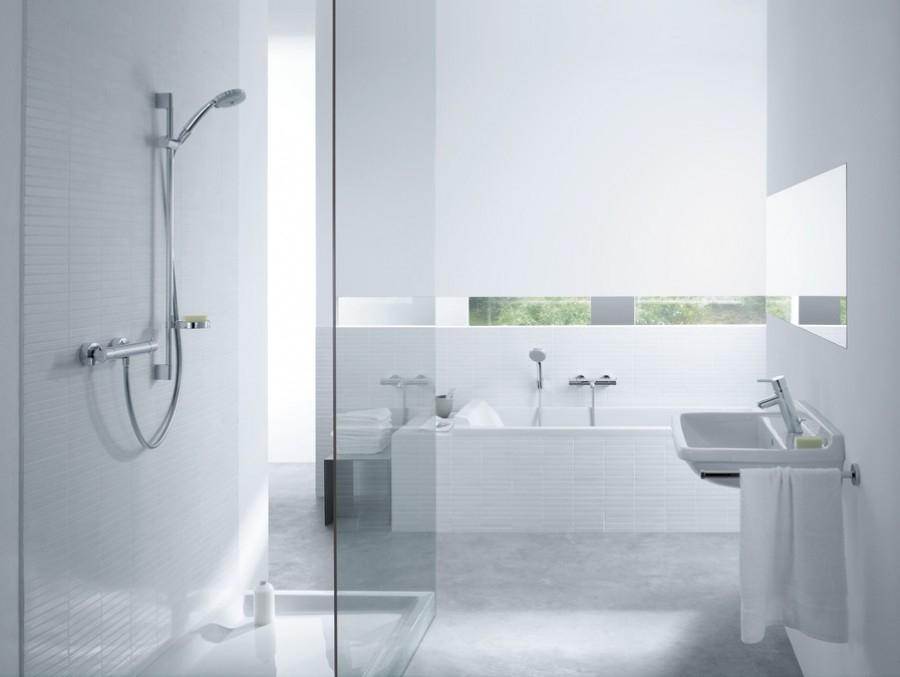 Mitigeur lavabo talis 80 sans tirette ni vidage 32041000 for Salle de bain sans fenetre ni aeration