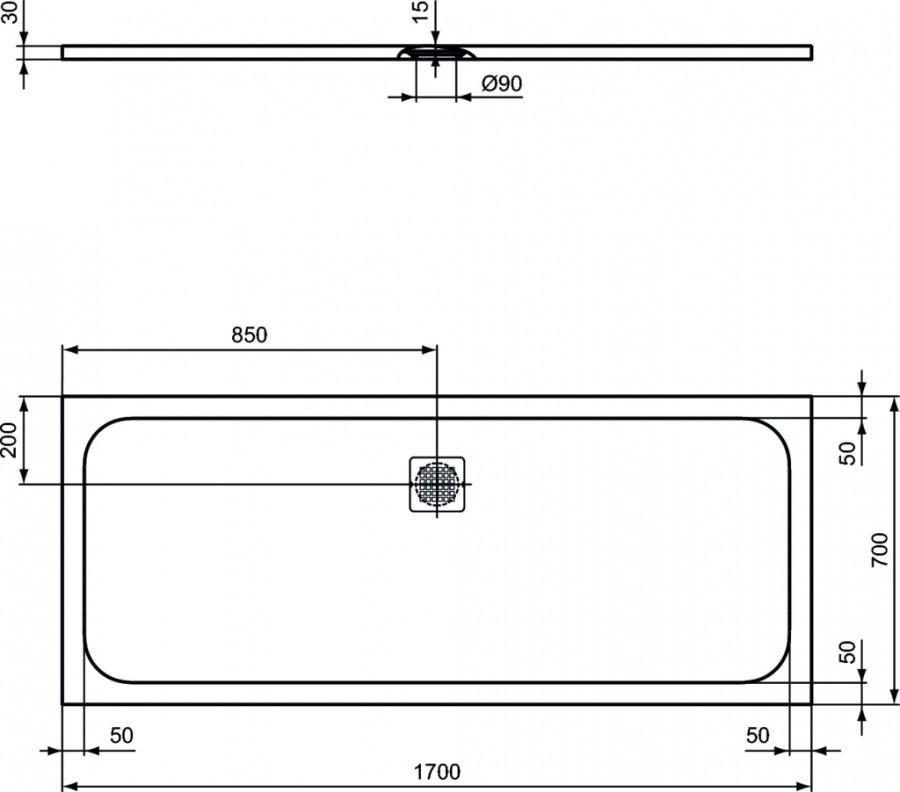 receveur de douche ultra flat s noir meuble de salle de bain douche baignoire. Black Bedroom Furniture Sets. Home Design Ideas