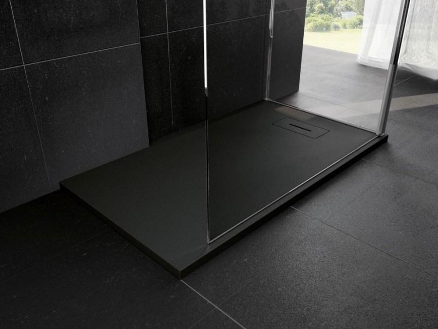 receveur de douche noir 160x80