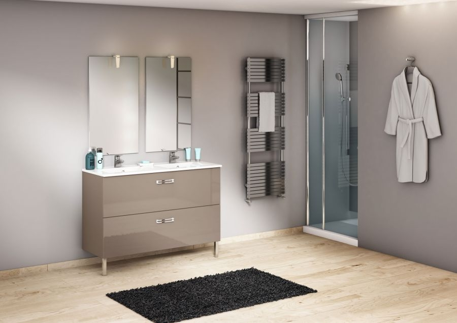 meuble double vasque 120 cm chango cristal meuble de salle de bain douche. Black Bedroom Furniture Sets. Home Design Ideas