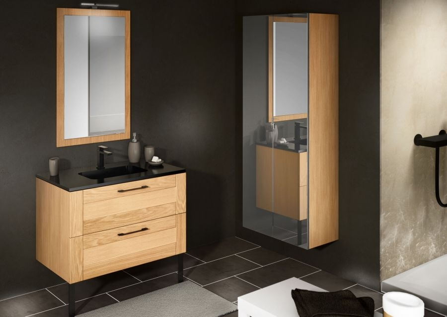 meuble simple vasque cosy 70 cm baltique meuble de salle de bain douche. Black Bedroom Furniture Sets. Home Design Ideas