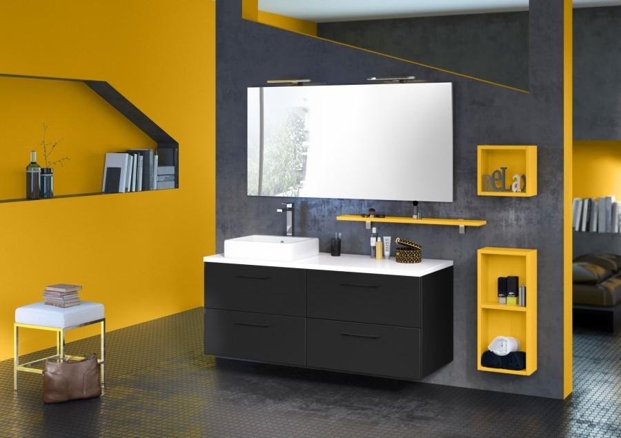 meuble simple vasque loft 140 cm orme meuble de salle de bain douche baignoire. Black Bedroom Furniture Sets. Home Design Ideas