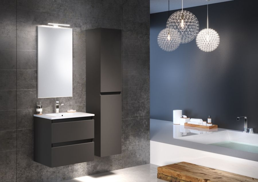 meuble simple vasque 60 cm rivage opale meuble de salle de bain douche. Black Bedroom Furniture Sets. Home Design Ideas