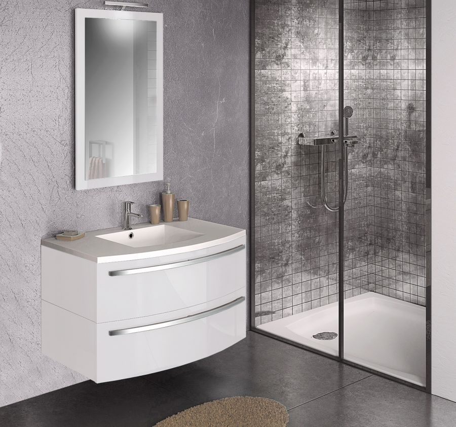 meuble simple vasque ondine 100 cm laque meuble de salle de bain douche. Black Bedroom Furniture Sets. Home Design Ideas