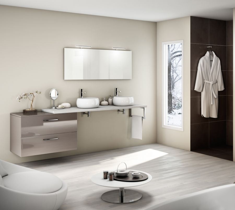 meuble double vasque graphique cristal meuble de salle de bain douche. Black Bedroom Furniture Sets. Home Design Ideas
