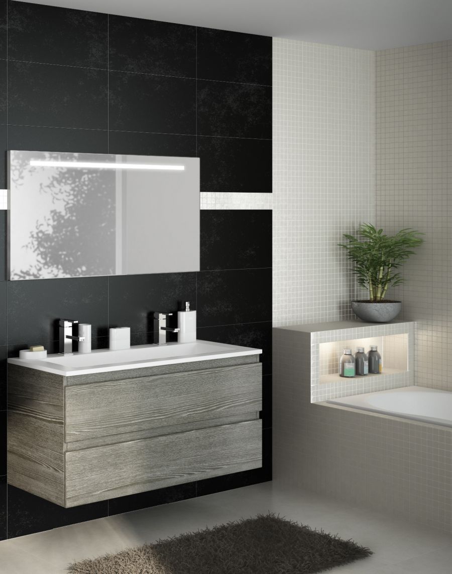 meuble simple vasque 120 cm rivage sci e meuble de salle de bain douche. Black Bedroom Furniture Sets. Home Design Ideas