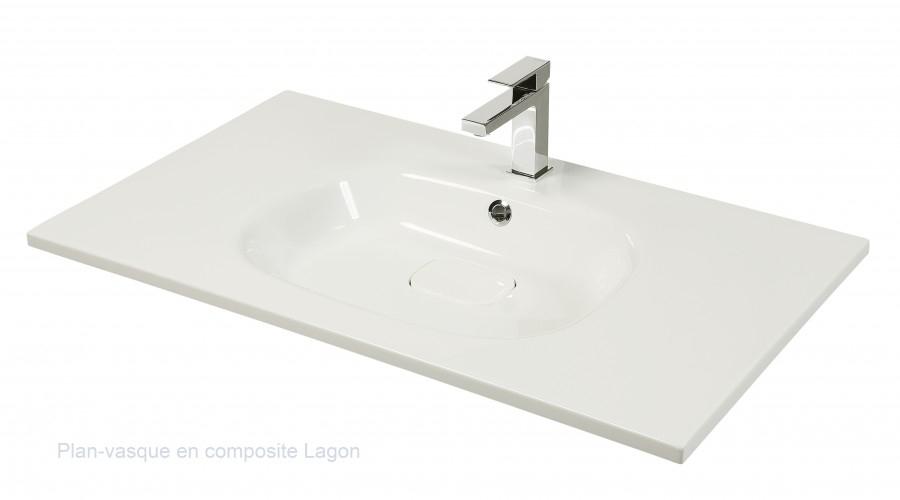 meuble simple vasque vogue 70 sci e blanc et meuble de salle de bain douche. Black Bedroom Furniture Sets. Home Design Ideas