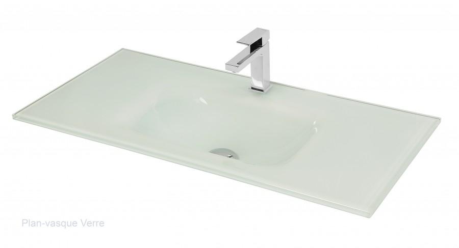 Meuble Simple Vasque Loft 70 Cm Cristal Prune