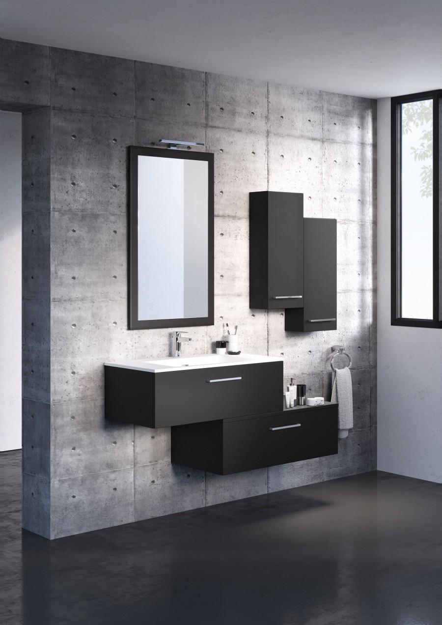 meuble simple vasque swing 90 cm cristal meuble de salle de bain douche. Black Bedroom Furniture Sets. Home Design Ideas