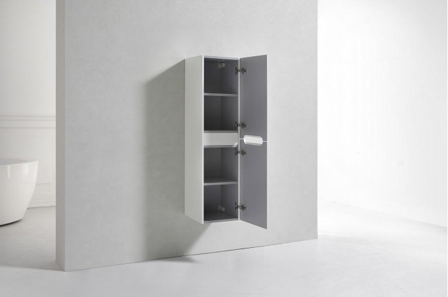 colonne de salle de bain toola 135cm blanc meuble de salle de bain douche. Black Bedroom Furniture Sets. Home Design Ideas
