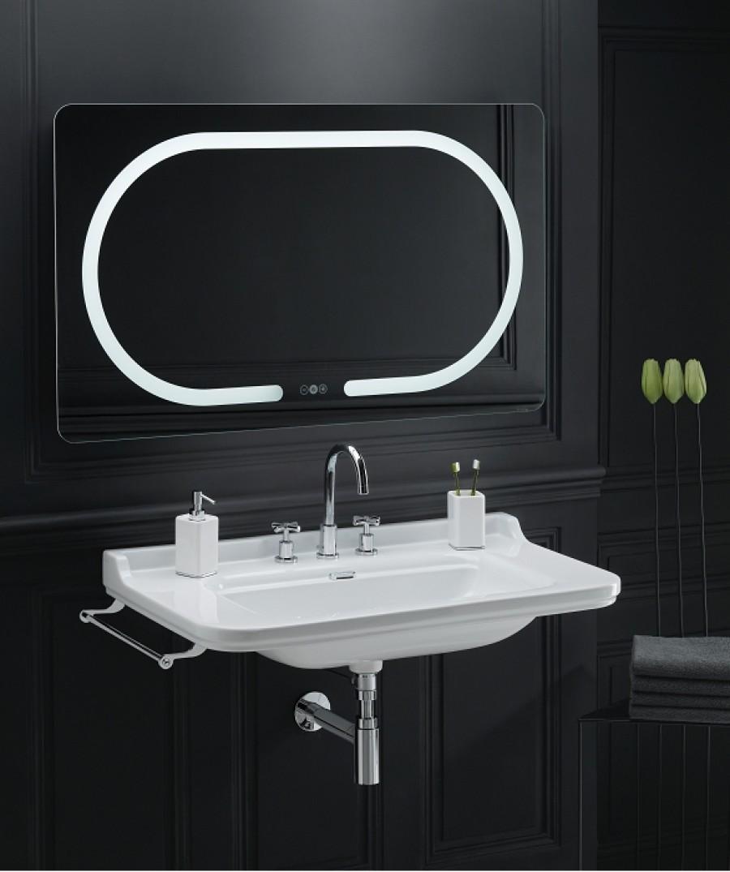 Vasque Rétro à 3 Trous : Vasque rétro céramique waldorf à suspendre cm