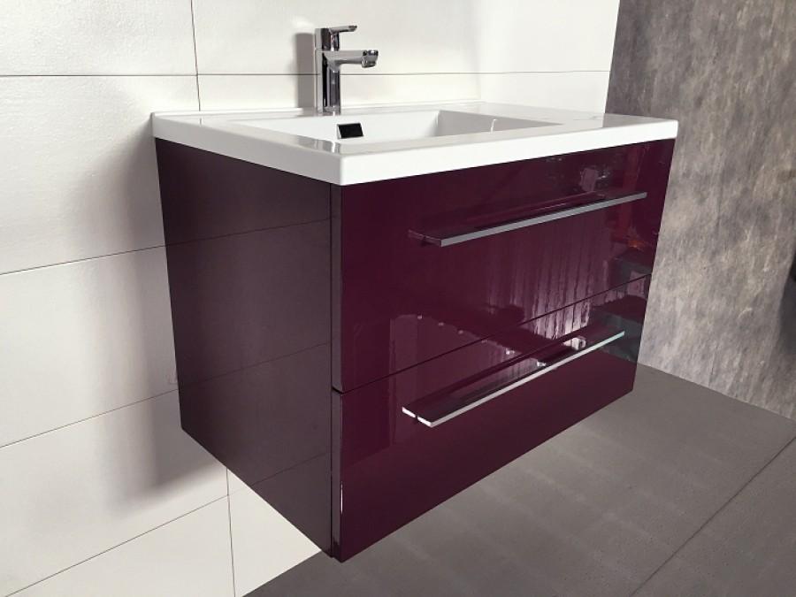 meuble simple vasque 80cm saturn 2 0 aubergine sans meuble de salle de bain. Black Bedroom Furniture Sets. Home Design Ideas
