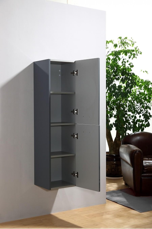 colonne de salle de bain saturn 2 0 135cm gris brillant. Black Bedroom Furniture Sets. Home Design Ideas