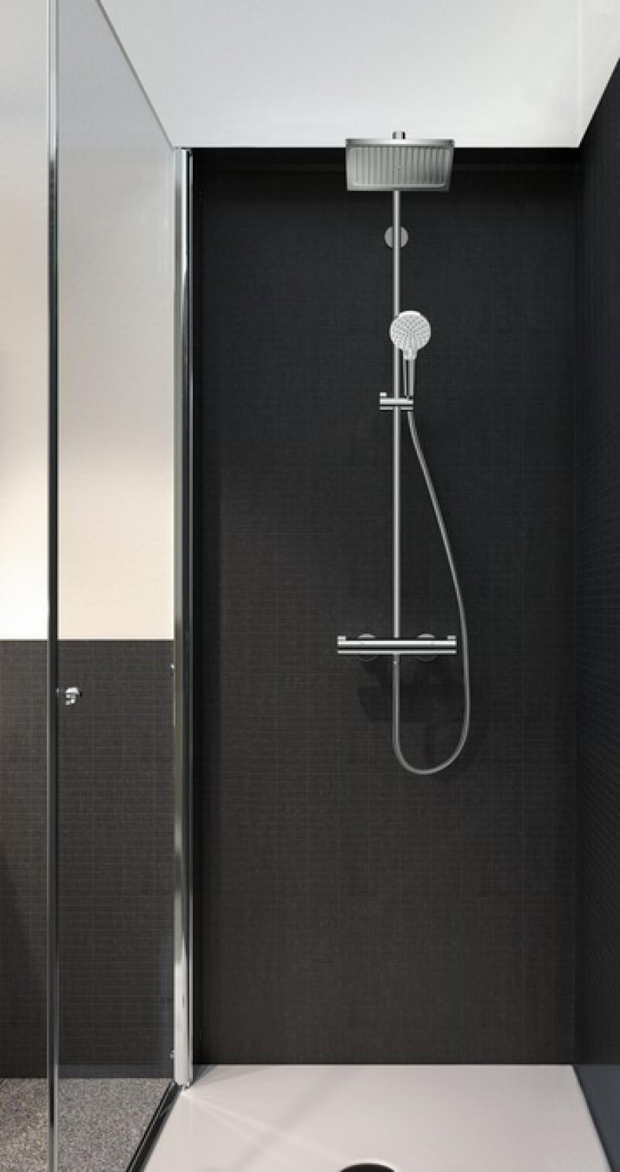 colonne de douche showerpipe crometta e 240 1jet 27271000. Black Bedroom Furniture Sets. Home Design Ideas
