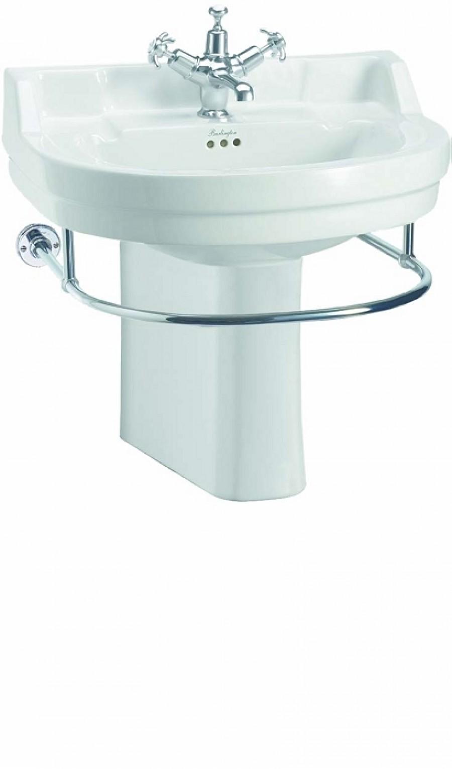 Vasque ronde et colonne r hauss e edouardien burlington for Baignoire demi ronde