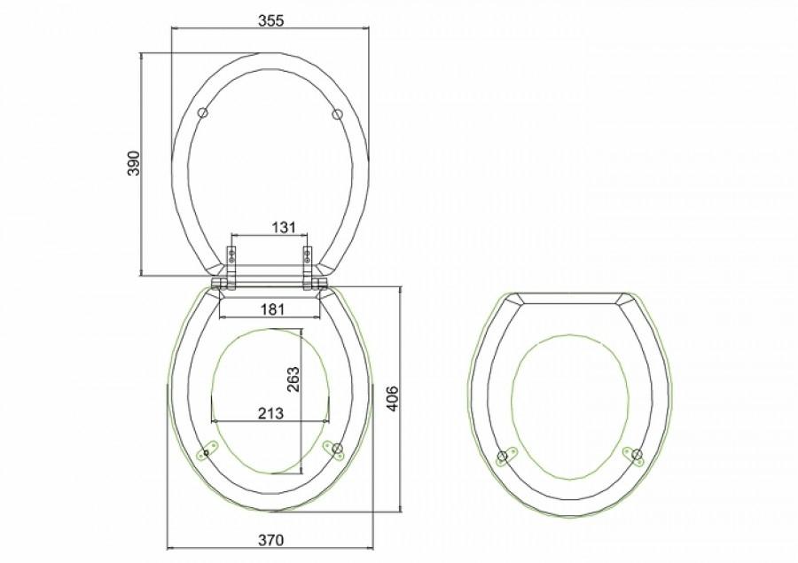 wc burlington avec levier de r servoir en c ramique taille basse 520 abattant frein de chute ch ne. Black Bedroom Furniture Sets. Home Design Ideas