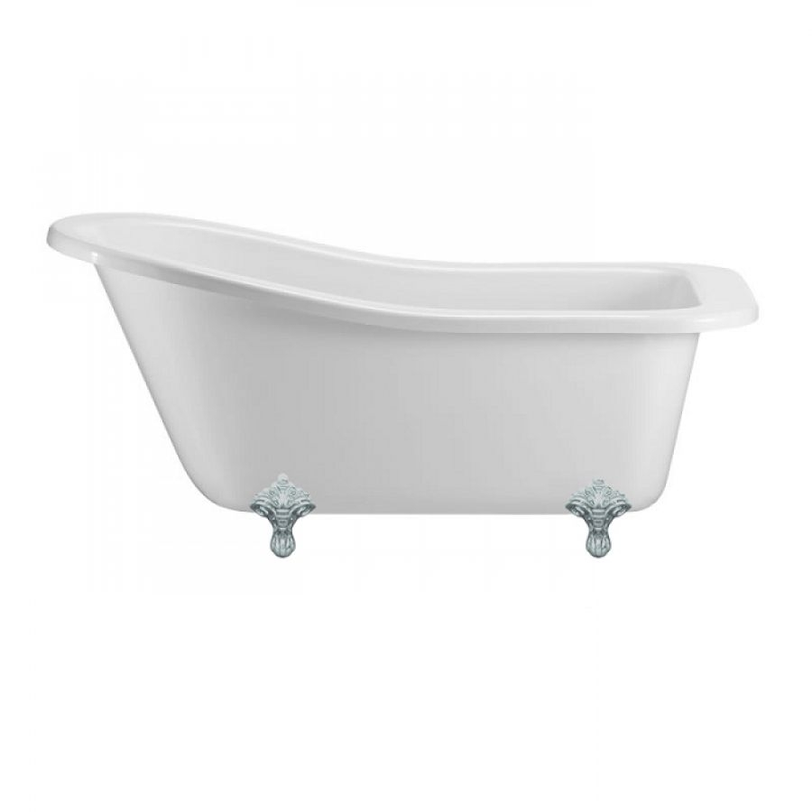 Baignoire Buckingham Burlington 150 Cm Pied Traditionnel Chrome