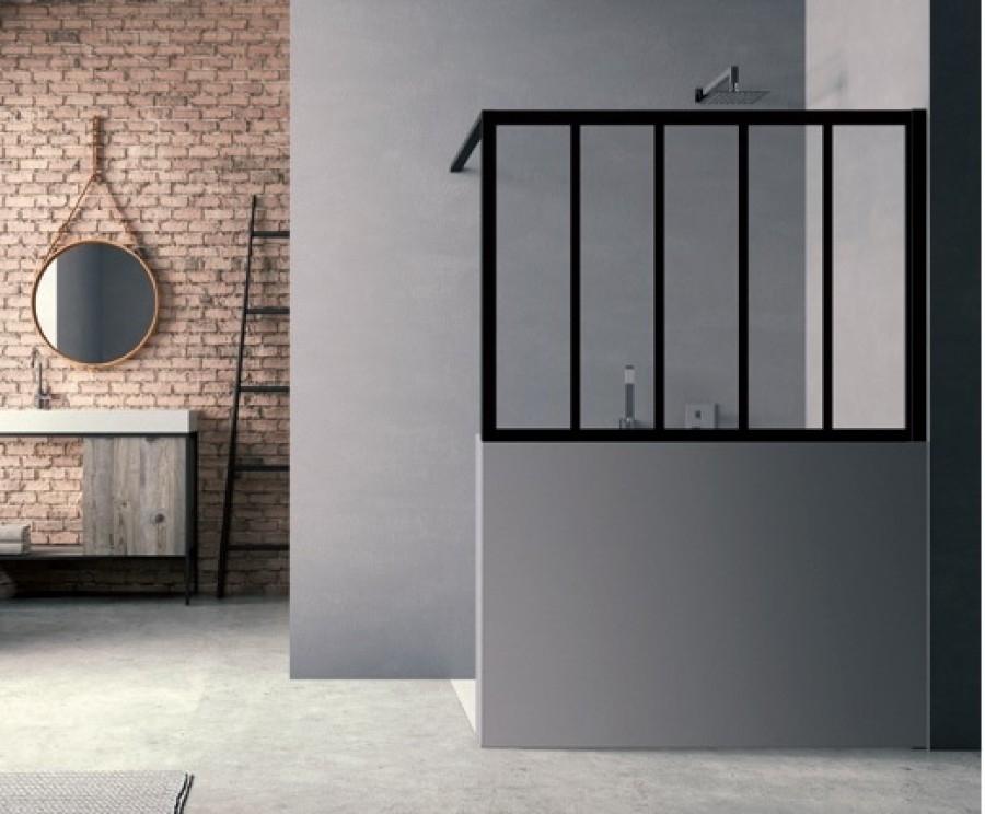 Châssis vitré à poser LOFT Wall 100x100 cm