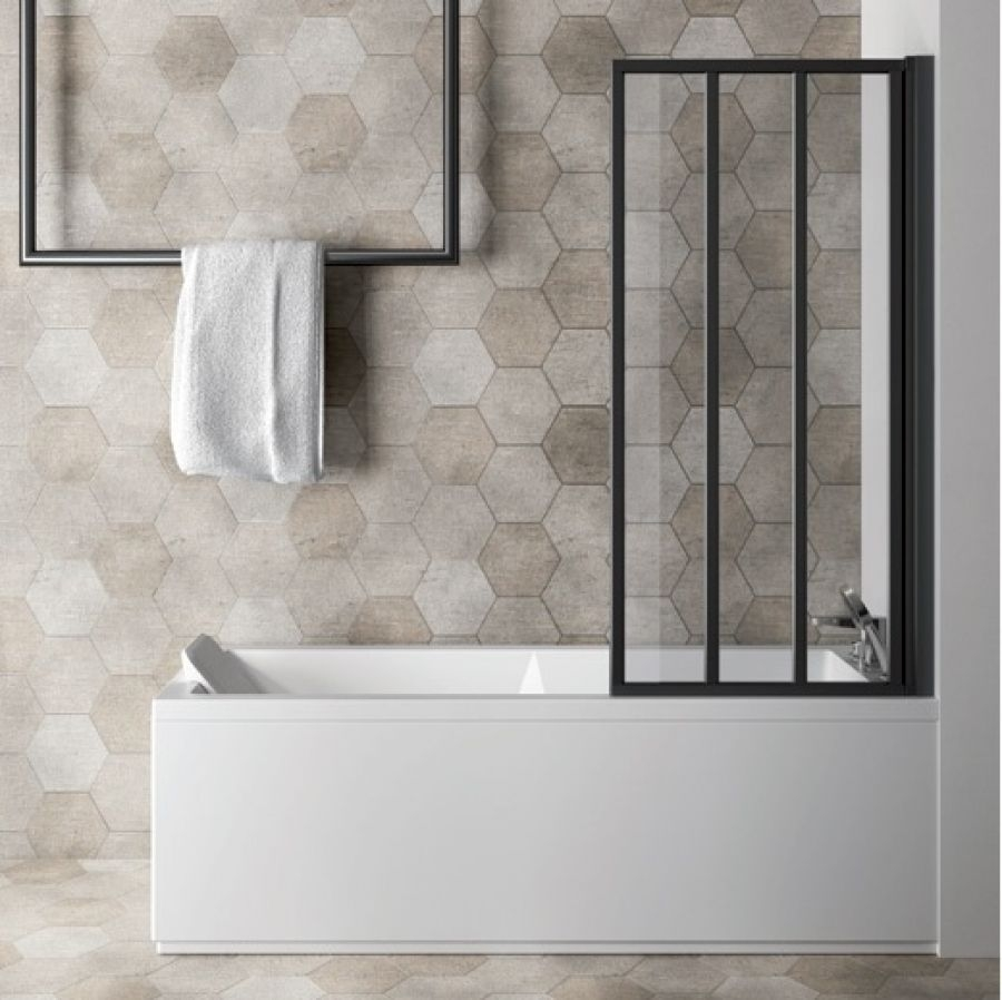 paroi de baignoire loft screen pivotante meuble de salle de bain douche. Black Bedroom Furniture Sets. Home Design Ideas