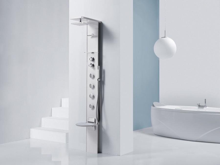 colonne de douche cascata 3 blanc meuble de salle de bain douche. Black Bedroom Furniture Sets. Home Design Ideas