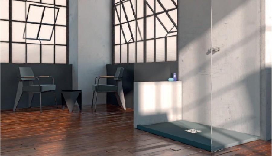 receveur de douche 70x100 liso enmarcado frontal graphite. Black Bedroom Furniture Sets. Home Design Ideas