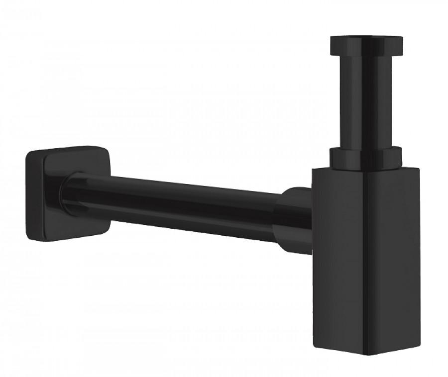 Siphon de lavabo laiton carré BLACKMAT Quadri - ONDYNA