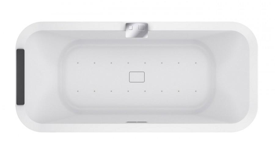 baignoire hydro air divina f blanc brillant avec robinetterie. Black Bedroom Furniture Sets. Home Design Ideas