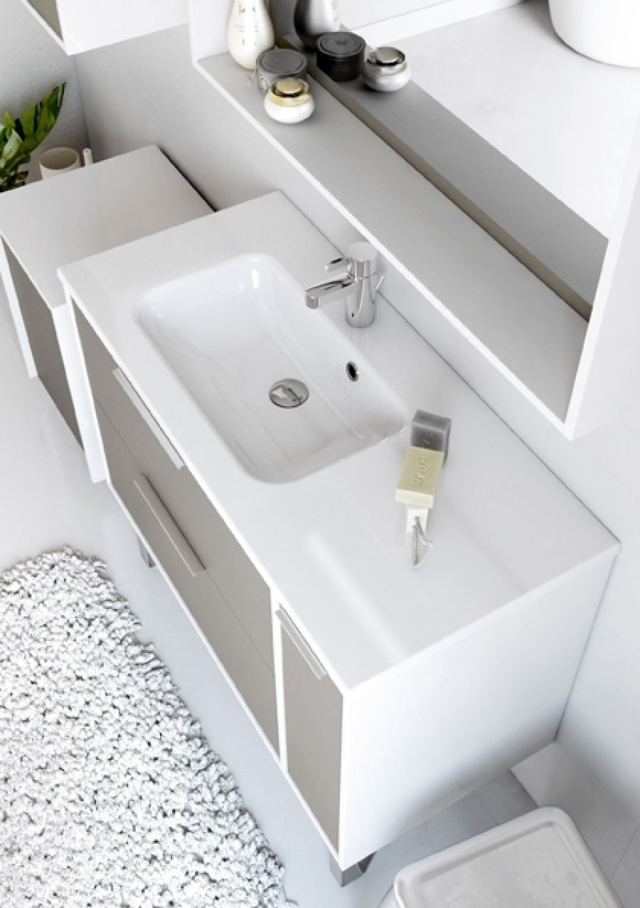 meuble simple vasque suspendre newport 100 cm moka mat. Black Bedroom Furniture Sets. Home Design Ideas