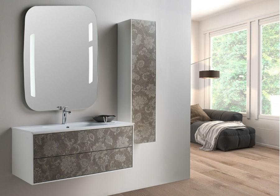 Meuble simple vasque PARIGI - Floreale - Compo 9