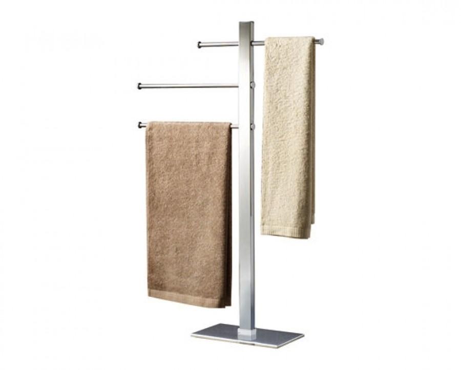 porte serviettes coulissant sur pied chrom bridge. Black Bedroom Furniture Sets. Home Design Ideas