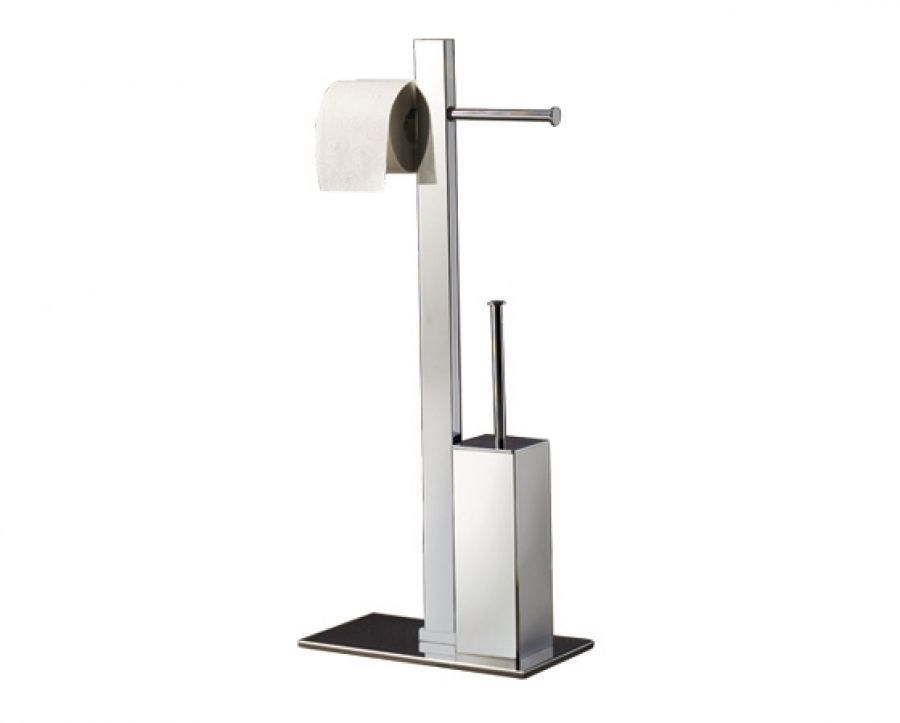 ensemble porte papier wc et porte brosse chrom bridge meuble de salle de. Black Bedroom Furniture Sets. Home Design Ideas