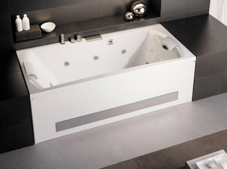 Baignoire Balnéo Pure Design 190x90 Detente Tête à