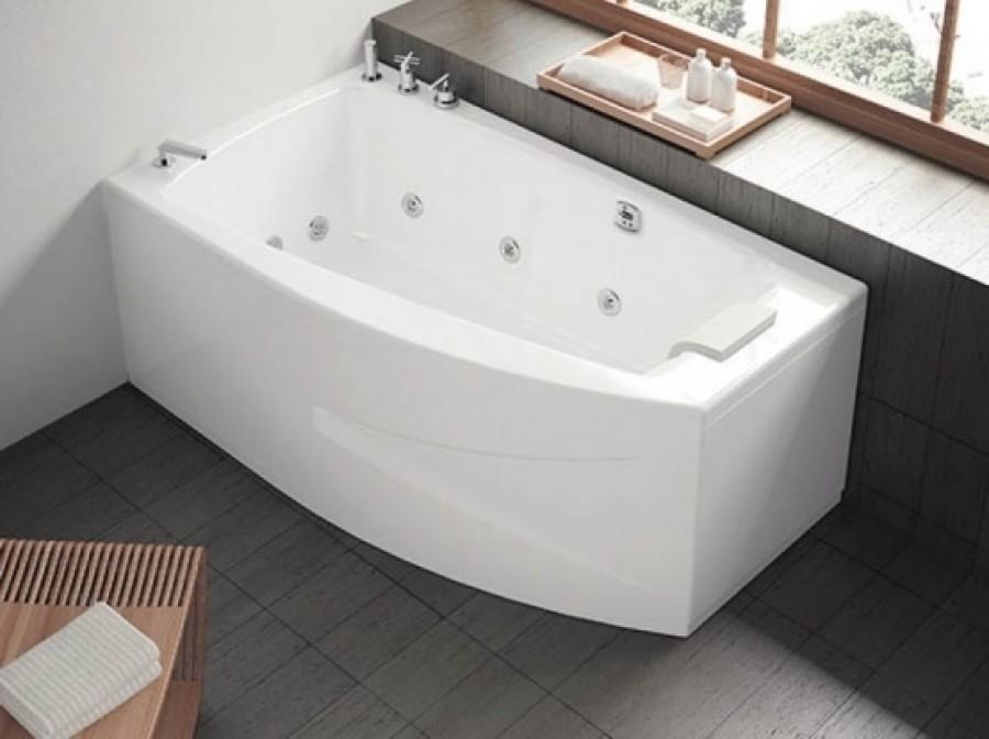 baignoire baln o pure design 160x90 asym trique kietude. Black Bedroom Furniture Sets. Home Design Ideas