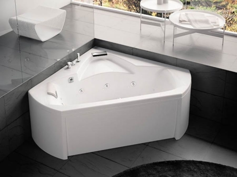 baignoire baln o pure design d 39 angle 140x140 sante t te gauche. Black Bedroom Furniture Sets. Home Design Ideas