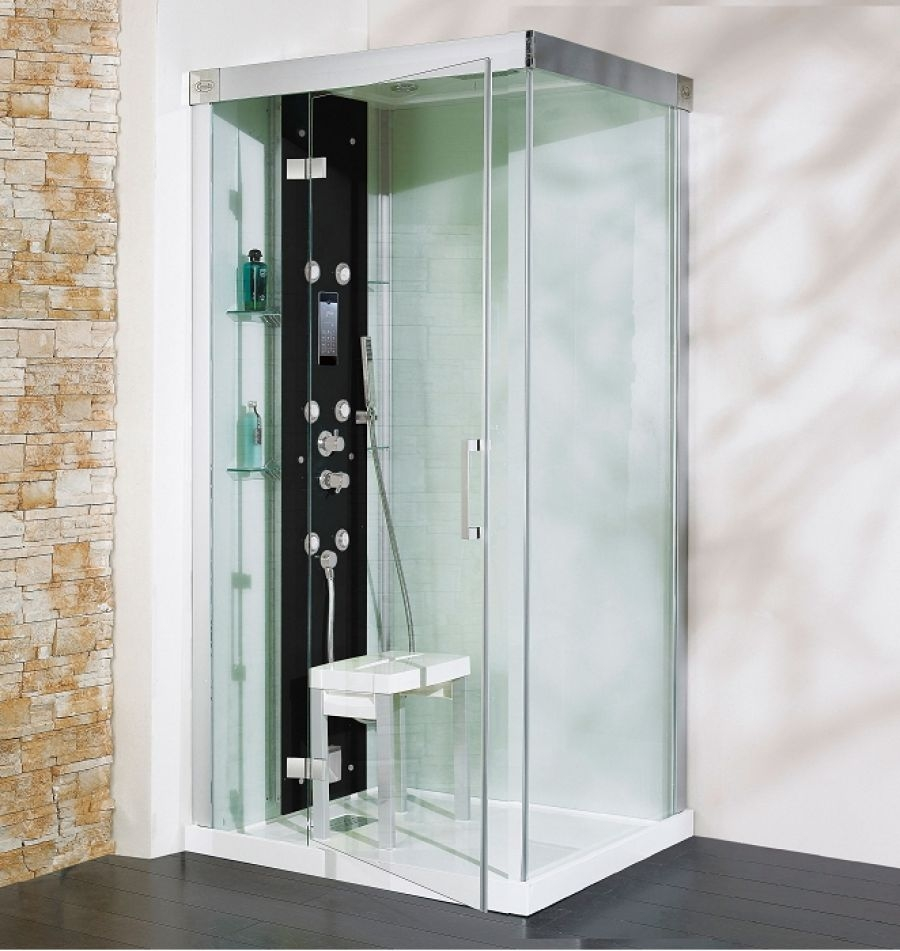 cabine de douche kineform hydro hammam carr 90 cm perle meuble de salle. Black Bedroom Furniture Sets. Home Design Ideas