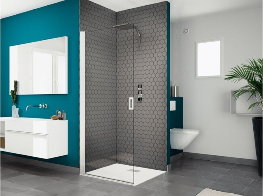 paroi de douche simple pivotante smart solo p 90 cm meuble de salle de bain. Black Bedroom Furniture Sets. Home Design Ideas