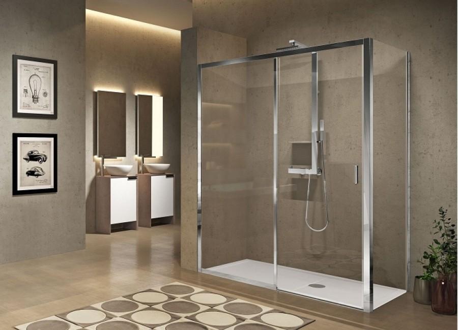 paroi de douche fixe 130 cm