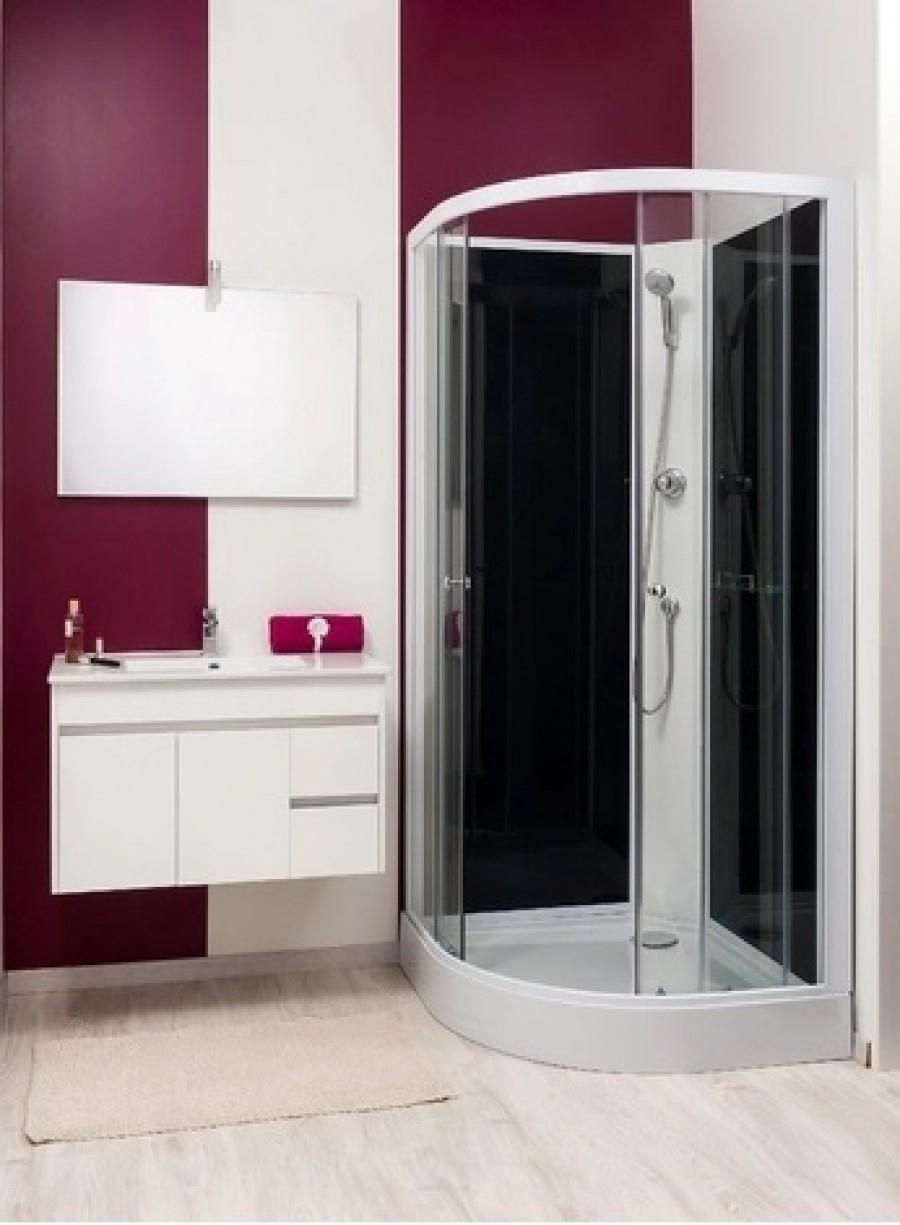 cabine de douche gena blanc sans silicone 80. Black Bedroom Furniture Sets. Home Design Ideas