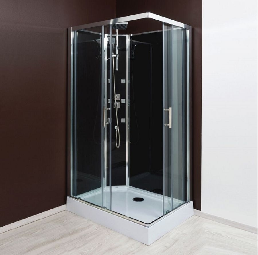 cabine de douche rectangulaire selia hydro 110x80 cm meuble de salle de bain. Black Bedroom Furniture Sets. Home Design Ideas
