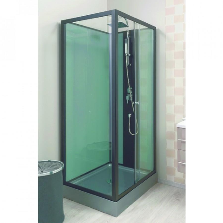 cabine de douche astoria gris 100x80 cm. Black Bedroom Furniture Sets. Home Design Ideas