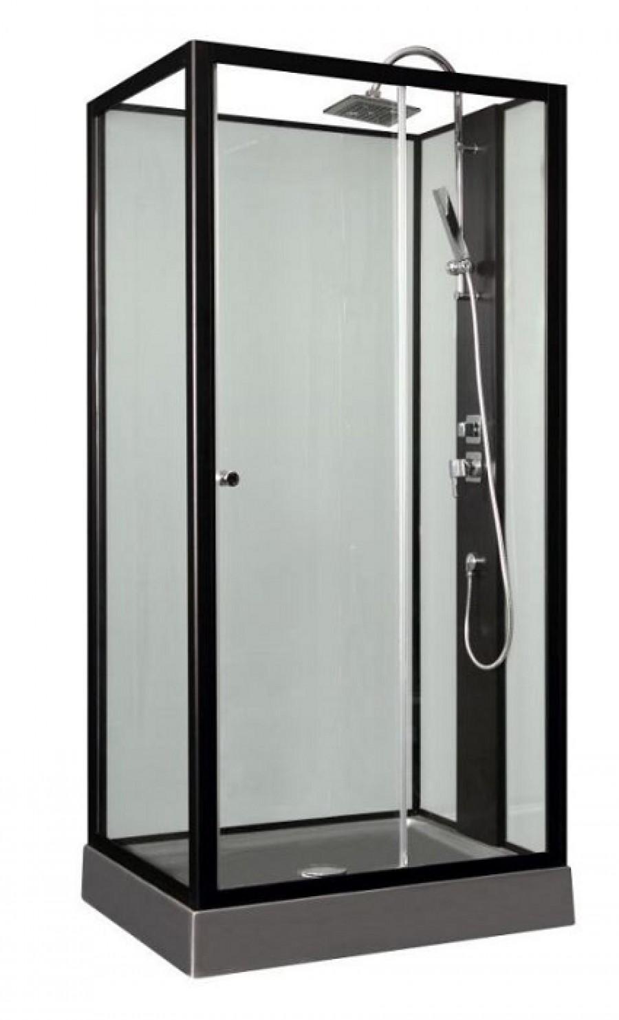 cabine de douche astoria gris 100x80 meuble de salle de bain douche baignoire. Black Bedroom Furniture Sets. Home Design Ideas