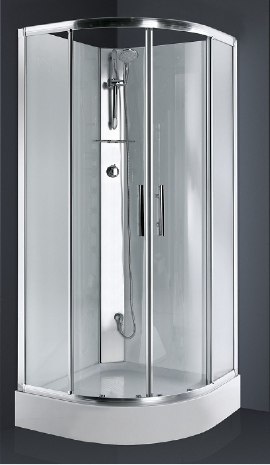 Transparent 100 a 110cm 1 porte Sans profil inf/érieur Profil/és en Blanc 1 fixe Verre tremp/é 6 mm Cabine de Douche Frontal Coulissante
