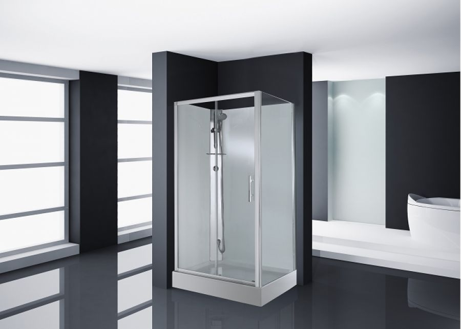 cabine de douche carat 120x80 cm thermostatique version meuble de salle. Black Bedroom Furniture Sets. Home Design Ideas